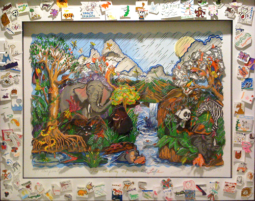 The Serenity of Wildlife by Charles Fazzino and 40 Jacksonville Children