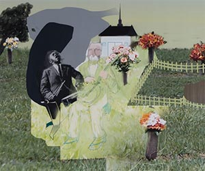 Jazz, In Cemetery with Drummer and Flowers by Troy Eittreim