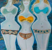 Three Bikinis  by Memphis Wood