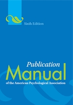 Publication Manual of the APA