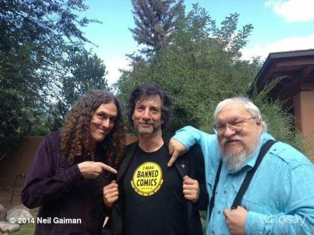 Weird Al Yankovich, Neil Gaiman, George R.R. Martin