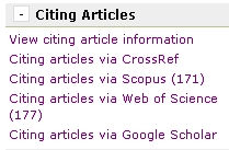 Citing Article Sources