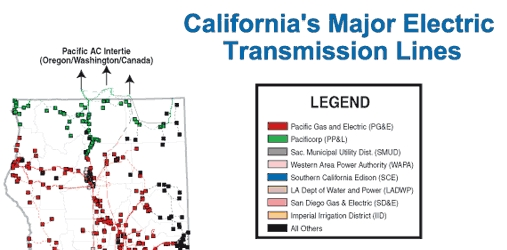 California's Major Electric Transmission Lines