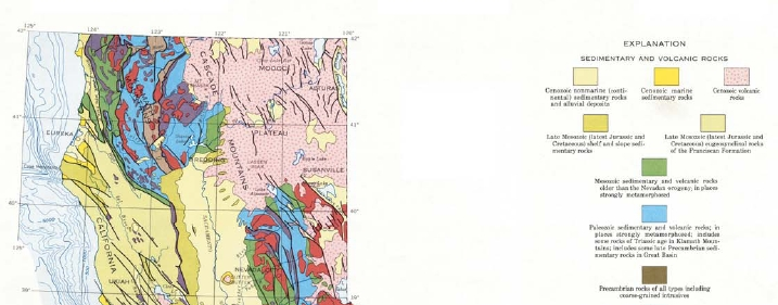 Simplified Geologic Map of California