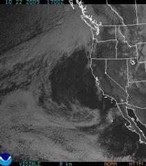 NOAA GOES Satellite Image of California