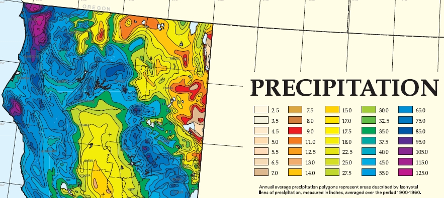 California Precipitation Map
