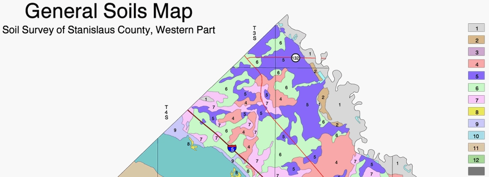 General Soils Map Stanislaus County
