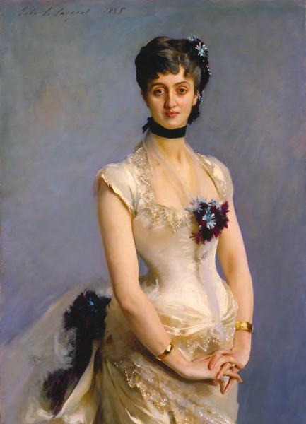 Madame Paul Poirson (1885) by John Singer Sargent, Detroit Institute of Arts, Camio database.