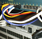 Photo of a network switch