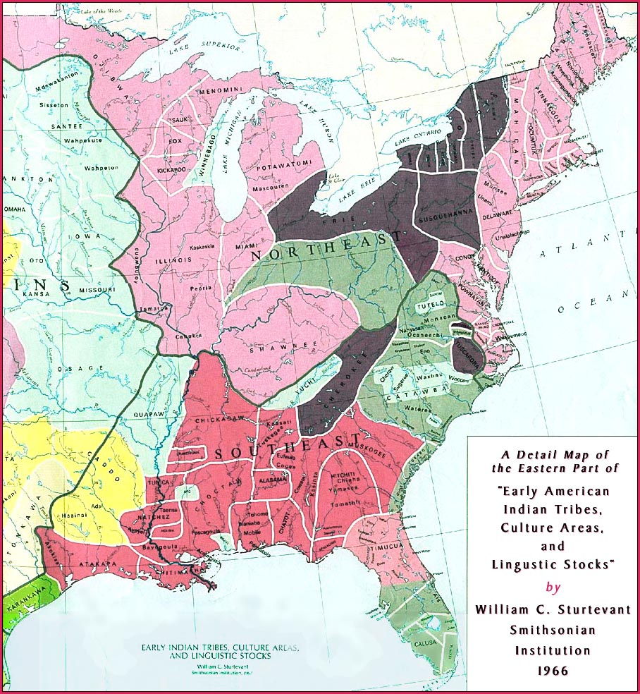 Smithsonian Map of Southeastern U.S. early tribes