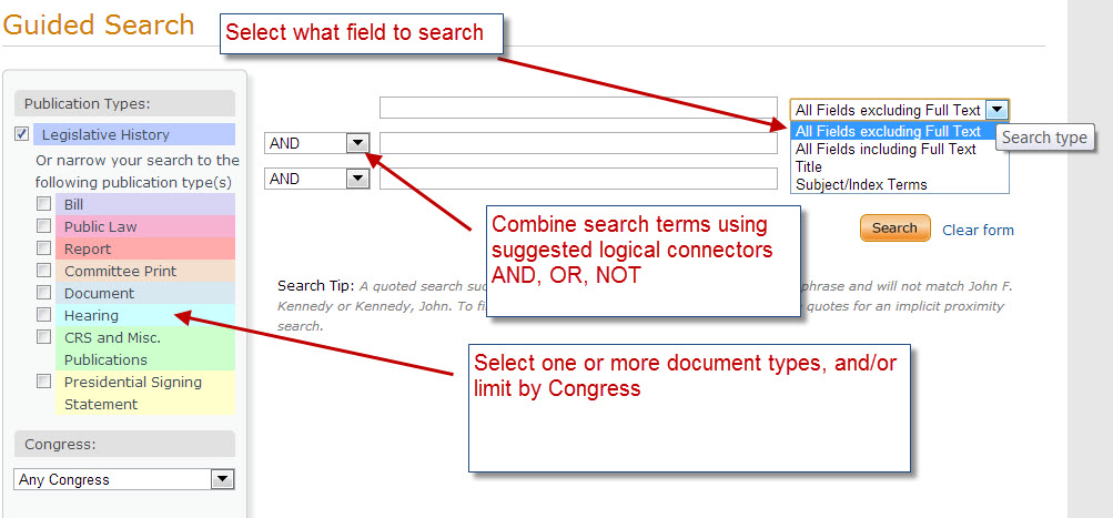 Guided Search  form