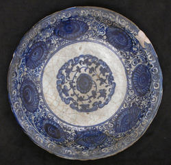 Object NameDish Date16th century GeographyIran, Tabriz  MediumGlazed pottery, stonepaste Dimensions13 in. (33 cm)