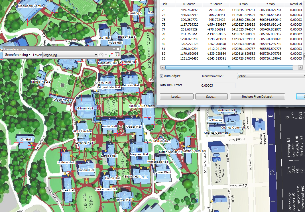 Georeferencing Hopkins Campus Map