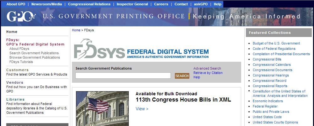 Federal Digital Information System