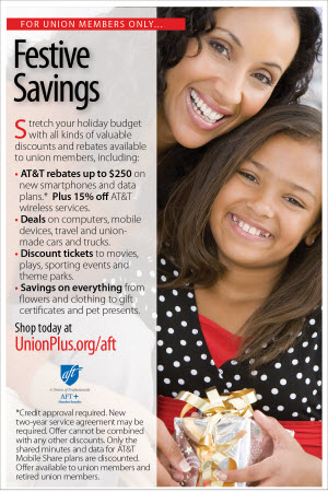 AFT Ad Holiday savings
