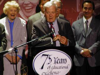 Dr. John Davitt at the GCC 75th anniversary gala on September 28, 2003