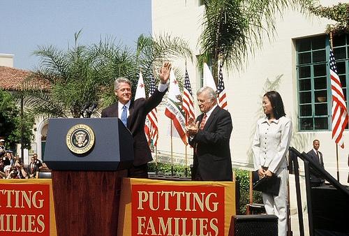 Bill Clinton, Dr. John Davitt, and Hazel Ramos