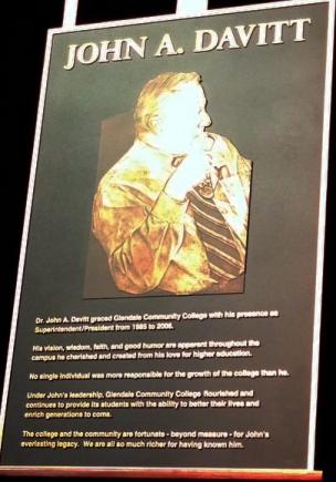 Plaque honoring Dr. John Davitt, unveiled at the memorial on September 18