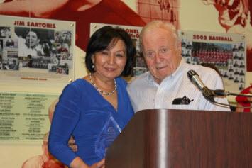 Dr. John Davitt with Saodat Aziskhanova