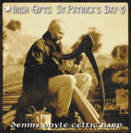 Image of Dennis Doyle playing the harp