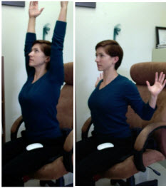 Picture of a chest stretch