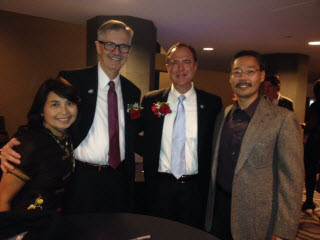 Michael Moreau, with wife Florence, Congressman Adam Schiff, and Guild President Richard Kamei