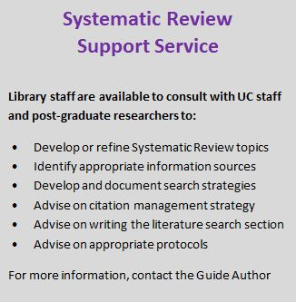 Systematic Review Support Service