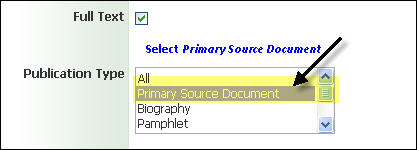 MasterFile Premier Primary Source Document Limiter