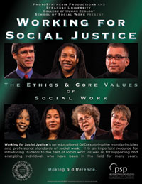 Working for social justice the ethics & core values of social work