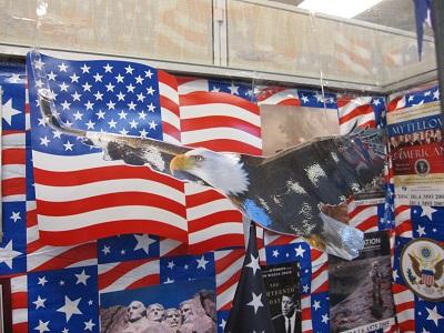 America--U.S. Flag and Bald Eagle