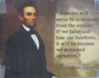 America will never be destroyed from the outside