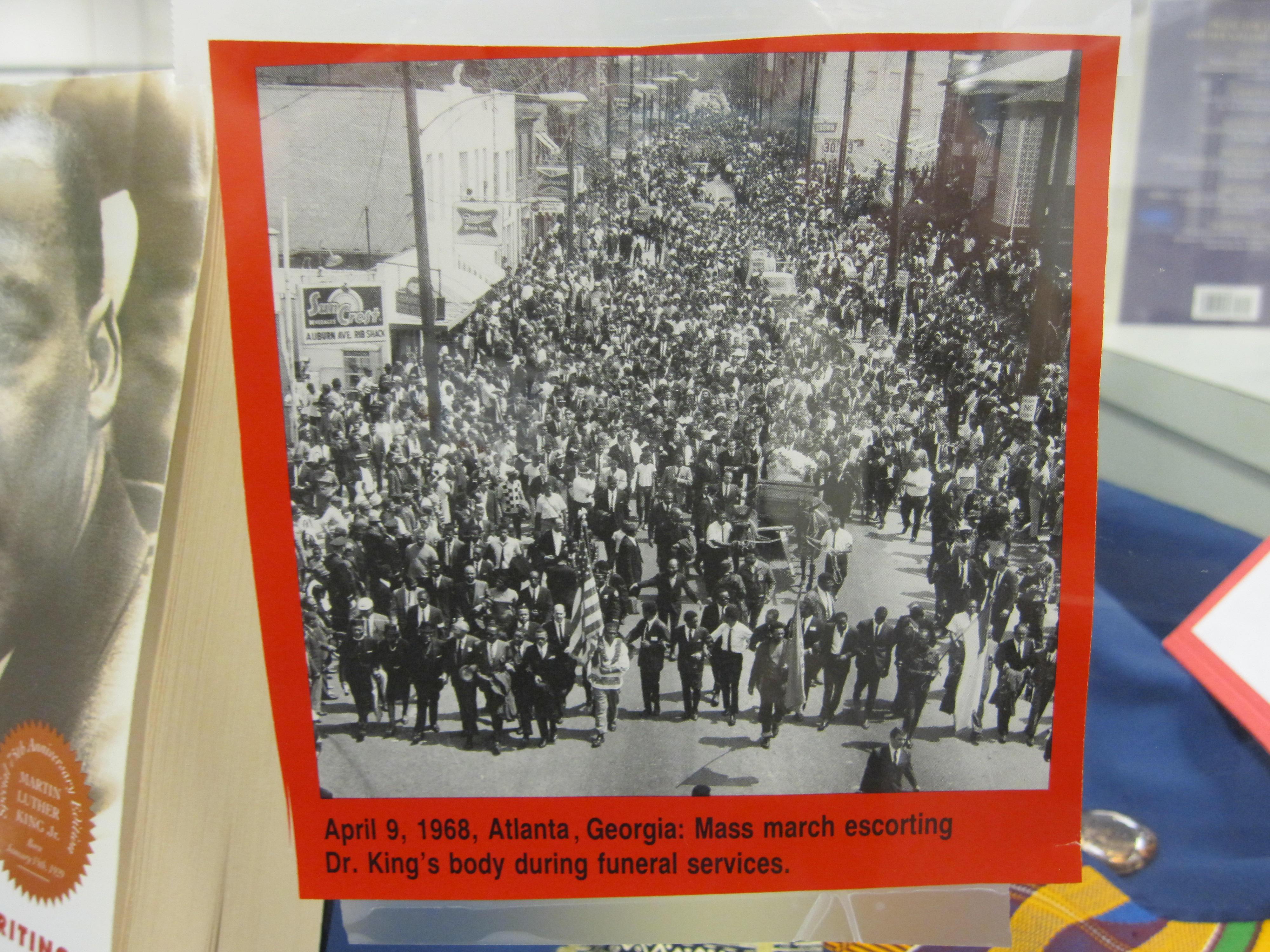 April 9, 1968--Atlanta, GA--Mass march escorting Dr. King's body during funeral services