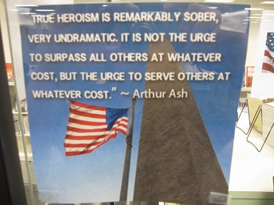 Arthur Ash quote about heriosm