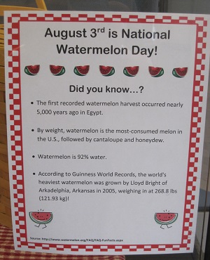 August 3rd is National Watermelon Day!