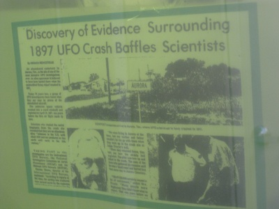 This is a second article about the 1897 Aurora UFO Incident