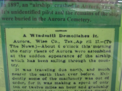 A Windmill Demolishes It:  This article was published in Aurora's newspaper the day of the crash.