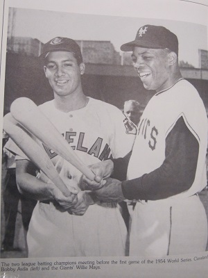 Bobby Avila and Willie Mays
