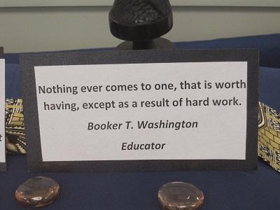 Booker T Washington Quote--Hard work