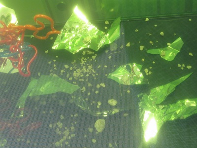 Crashed UFO--Metallic Debris