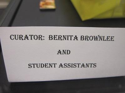 Curator--Bernita Brownlee and SAs