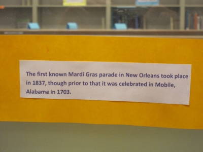 First Known Mardi Gras