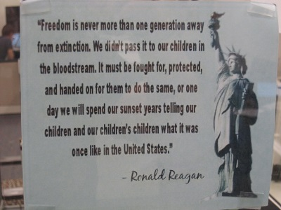 Freedom quote by Ronald Reagan