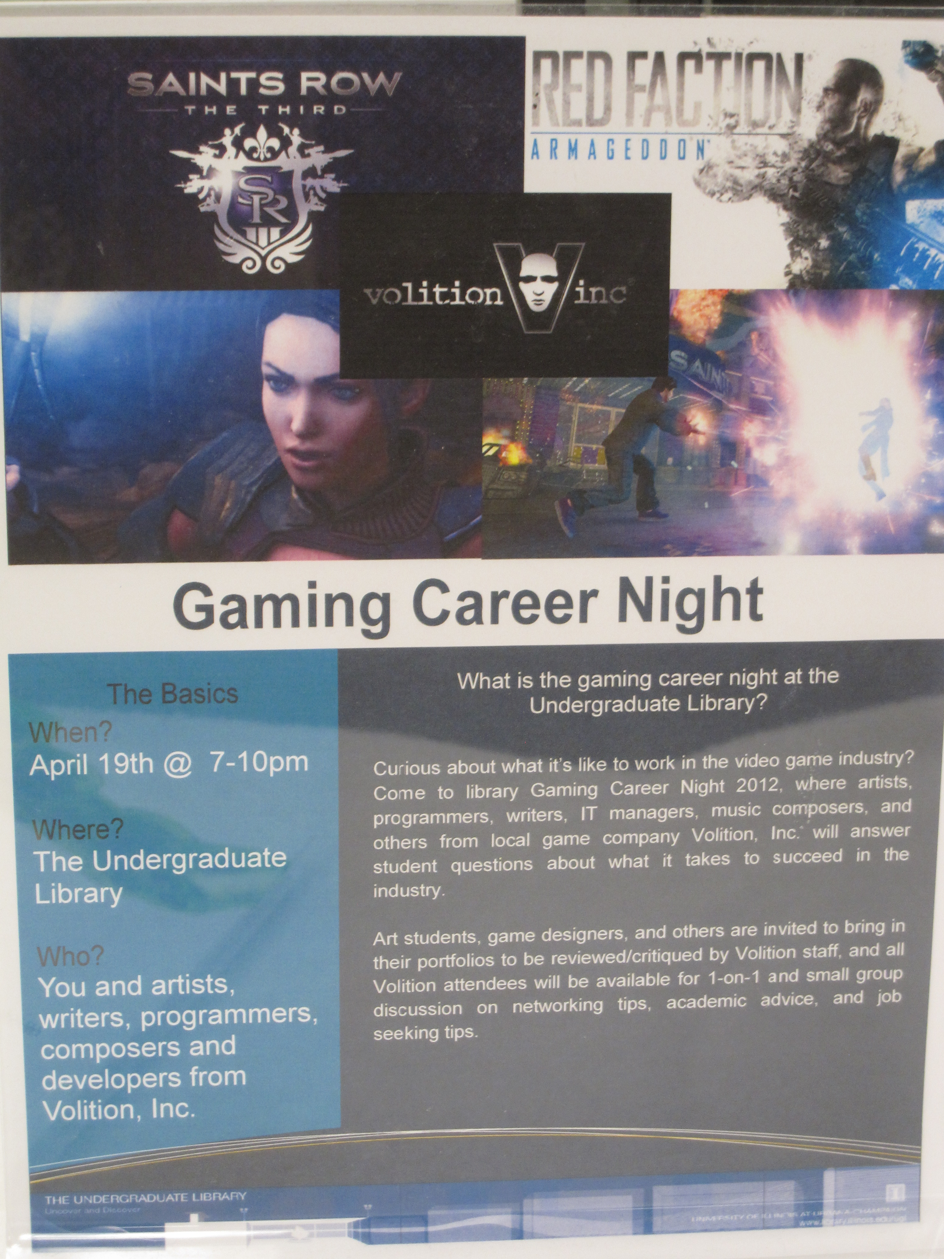Gaming Career Night Sign