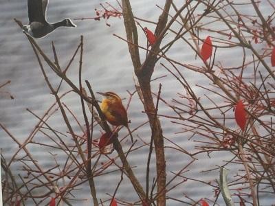 Goose and Wren in Tree