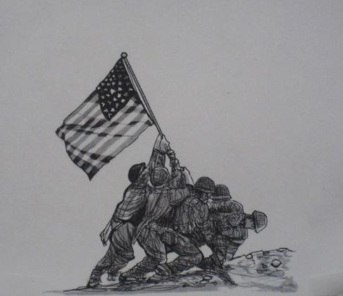 Iwo Jima--sketch