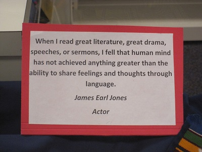 James Earl Jones Quote--Language