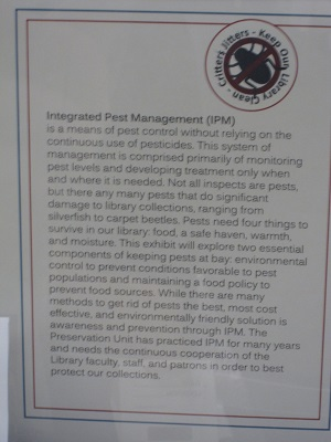 Library Pests--Integrated Pest Management