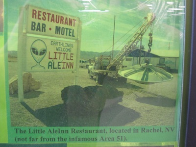The Little AleInn Restaurant, located in Rachel, NV.  (Not for from the infamous Area 51).