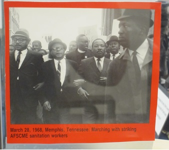March 28, 1968, Memphis, TN--Marching with striking AFSCME sanitation workers