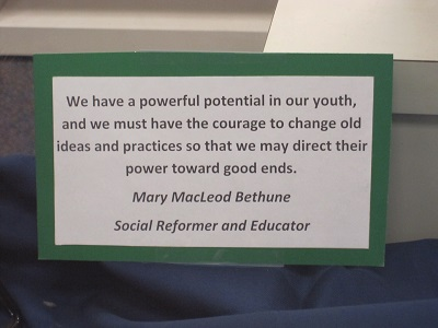 Mary MacLeod Bethune Quote--Potential